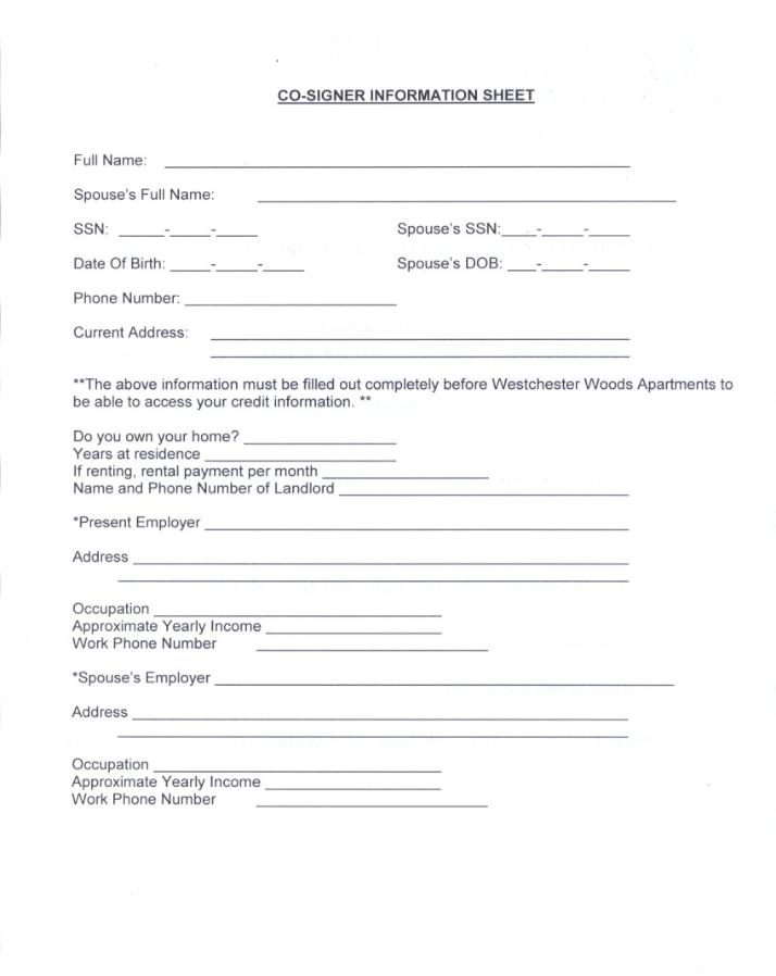 ... at least one qualified co signer will be required co signer form below
